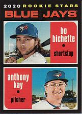Buy 2020 Topps Heritage #52 - Bo Bichette - Anthony Kay - Blue Jays