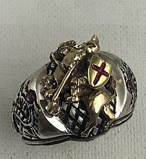Buy Artisan Made 10k Gold St.George Dragon sterling silver ring