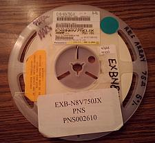 Buy Lot of 6500 ?: Panasonic EXB-N8V750JX Resistors