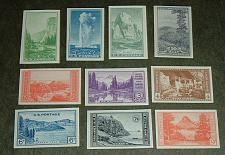 Buy US, Scott# 756-765, National Parks Imperforated set of 10 stamps (0003-A)