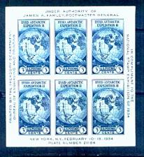 Buy US, Scott# 735, three cent Byrd Antarctic S/S of 6 stamps (0006-A)