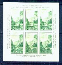 Buy US, Scott# 751, one cent Yellowstone S/S of 6 stamps MNH (0007-A)