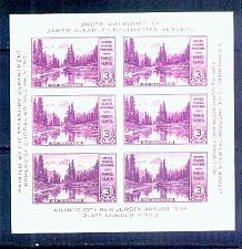 Buy US, Scott# 750, three cent Mount Rainier S/S of 6 stamps MNH (0008-A)