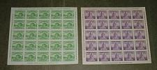 Buy US, Scott# 730-731, one & 3 cent Chicago Imperf S/S of 25 set of 2 S/S (0009-A)