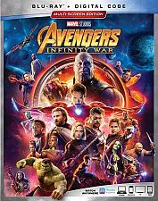 Buy AVENGERS INFINITY WAR BLU-RAY + DIGITAL CODE