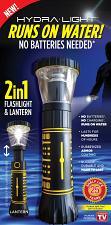 Buy hydra light 2 in 1 flashlight & lantern.. runs on water no batteries needed