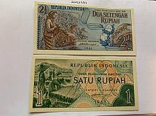 Buy Indonesia lot of 2 uncirc. banknotes 1961