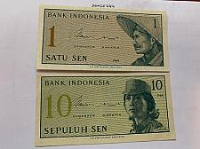 Buy Indonesia lot of 2 uncirc. banknotes 1964
