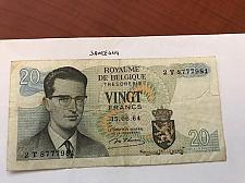 Buy Belgium 20 francs circulated banknote 1964