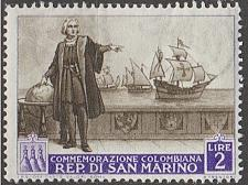 Buy [SM0309] San Marino Sc. no. 309 (1952) MH