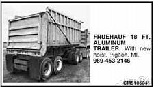 Buy 1970 Fruehauf 18 Foot Aluminum Pup Trailer
