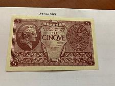 Buy Italy 5 lire uncirculated banknote 1944 #11