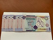 Buy Libya 1 dinara lot of 5 uncirc. banknotes 2009