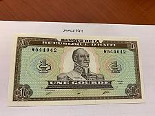 Buy Haiti 1 gourde uncirc. banknote 1989