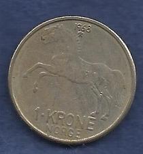 Buy NORWAY 1 Krone 1968 Coin Horse - Olav V