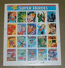 Buy US, Scott# 4084, thirty-nine cent Super Heroes sheet of 20 stamps (0106)