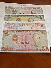Buy Vietnam lot of 4 uncirc. banknotes