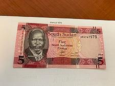 Buy Sudan 5 pounds uncirc. banknote 2015