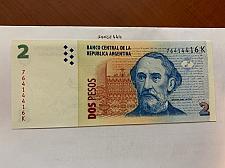 Buy Argentina 2 pesos uncirc. banknote 2002
