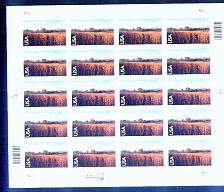 Buy US, Scott# C136, seventy cent Nine Mile Prairie sheet of 20 stamps (0130)