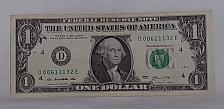 Buy 2013 'Cool Serial number' $1.00 US Federal Reserve Note