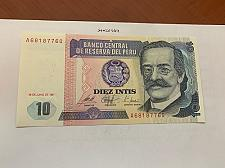Buy Peru 10 intis uncirc. banknote 1987 #1