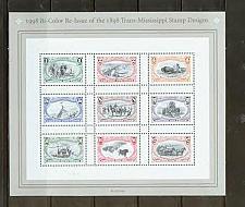 Buy US, Scott# 3209, Trans-Mississippi Reissue sheet of 9 different stamps (0131)