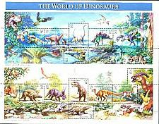Buy US, Scott# 3136, thirty-two cent World of Dinosaurs sheet of 15 stamps (0140)
