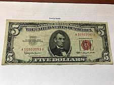 Buy United States Lincoln $5 red circulated banknote 1963 #5