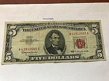 Buy United States Lincoln $5 red circulated banknote 1963 #1
