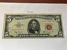 Buy United States Lincoln $5 red circulated banknote 1963 #3