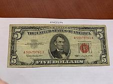 Buy United States Lincoln $5 red circulated banknote 1963 #4
