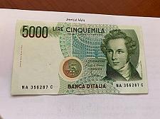 Buy Italy Bellini uncirculated banknote 5000 lira #11