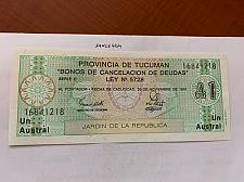 Buy Argentina 1 austral uncirc. banknote 1991 #3