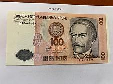 Buy Peru 100 intis uncirc. banknote 1987 #2