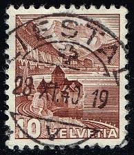 Buy Switzerland #230 Chillon Castle; Used (0.75) (2Stars)  SWI0230-02