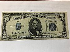 Buy United States Lincoln $5 blue circulated banknote 1934