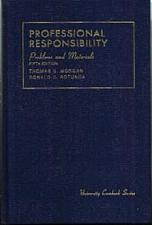 Buy Problems and Materials on PROFESSIONAL RESPONSIBILITY :: FREE Shipping
