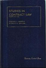 Buy STUDIES IN CONTRACT LAW HB :: FREE Shipping