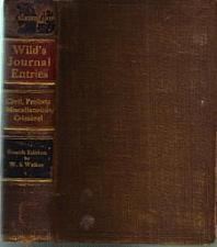 Buy Wild's Journal Entries :: 1914 HB :: FREE Shipping