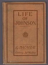 Buy LIFE OF JOHNSON :: 1903 HB by Macaulay :: FREE Shipping