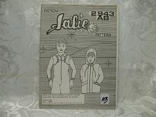 Buy Jalie Pattern 2943AB Lined Jacket With Detatachable Hood And Dungarees UNCUT 18 Piece