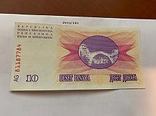 Buy Bosnia 10 dinara uncirc. banknote 1992 #3