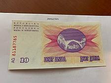 Buy Bosnia 10 dinara uncirc. banknote 1992 #4
