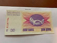 Buy Bosnia 10 dinara uncirc. banknote 1992 #5