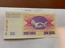Buy Bosnia 10 dinara uncirc. banknote 1992 #7