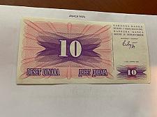 Buy Bosnia 10 dinara uncirc. banknote 1992 #8