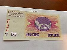 Buy Bosnia 10 dinara uncirc. banknote 1992 #9