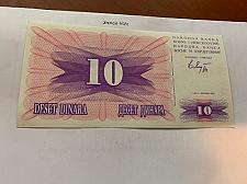 Buy Bosnia 10 dinara uncirc. banknote 1992 #10