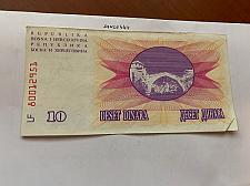 Buy Bosnia 10 dinara circulated banknote 1992 #12
